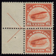 #C  1 VF/XF OG  VLH/NH, arrow pair,   Nice position piece.  well centered throughout