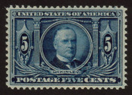 # 326 XF-SUPERB OG NH, w/PSE (GRADED 85+ (07/07)) CERT, Grade reduced, stray ink on 'FIVE',  a wonderful stamp with near perfect centering, much better than the '85' suggests.  See photo