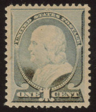 # 212 XF-SUPERB OG NH, w/PSE (GRADED 80++ (07/07)) CERT,  Grade reduced because of toning,  We do not see any signs of toning, just the usual paper color changes due to full OG.  VERY NICE!