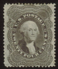 #  37 XF OG H, w/PSE (07/07) CERT,  a super stamp with great color and near perfect centering, usual nibbled perforation which is the normal for this perforation 15 1/2 stamp.   Select!