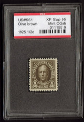 # 551 XF-SUPERB OG NH, w/PSE (GRADED 95, ENCAPSULATED),  nice and fresh