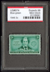 # 974 SUPERB OG NH, w/PSE (GRADED 98, ENCAPSULATED),  select!
