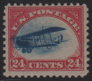 "#C  3  VF/XF OG VLH, ""Fast Plane"",  blue dots extend outside frame,  Very nice!"