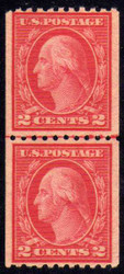 # 488 XF/SUPERB OG NH, Line Pair, Nice!!