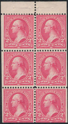 # 279Bk F/VF OG Hr, fresh booklet pane, nicely centered