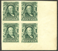 # 314 SUPERB OG NH, Corner margin block,  VERY NICE, these are getting harder to find!  Nice!