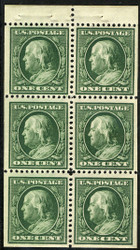 # 331a VF/XF OG NH, a select booklet pane, seldom seen never hinged with this super centering, GEM!