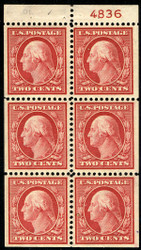 # 332a VF/XF OG NH, with plate number, another well centered booklet pane, WOW!