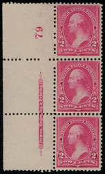 # 248 XF-SUPERB OG NH, Plate Strip of 3,  A super strip, well centered throughout,  Seldom Seen this nice!