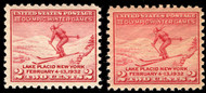 "# 716a VF OG NH, ""LAKE SHADE"",  clear LAKE shade, no gum skips or bends,   VERY SCARCE!"