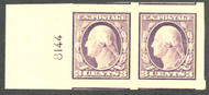 # 484 MONSTER JUMBO OG NH, Pair,  HUGE JUMBO Margins, plate number single,  SELECT!
