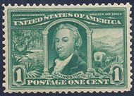 # 323 XF-SUPERB OG NH, w/PSE (GRADED 95 (02/11)) CERT, great color and nearly perfectly centered,  GEM!