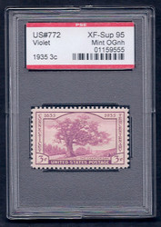 # 772 XF-SUPERB OG NH, w/PSE (GRADED 95, ENCAPSULATED),
