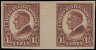 # 631v VF/XF OG LH, NO GUM BREAKERS, w/APS (03/99) CERT, PAIR with VERTICAL GUTTER,  A rare variety with a certificate, NICE!