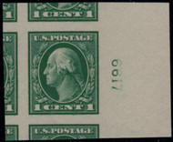 # 408 SUPERB JUMBO OG NH, w/PSE (GRADED 100 JUMBO (10/16)) CERT, Plate Number Single, CHOICE GEM!