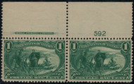 # 285 VF/XF OG NH, Plate Number Pair, Super Nice!