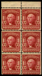 # 319Fg VF/XF OG NH, LAKE, very scarce pane in this grade and color, SELECT!