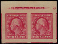 # 344 GEM OG NH, Pair, w/PSE (GRADED 100 (07/17)) CERT, a fantastic top Imprint Pair!   SUPER GEM!