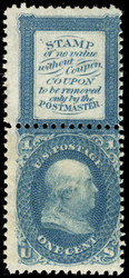 #  63E13f VF OG NH, Perf Between, NEVER HINGED, VERY RARE, top no gum as issued,   SUPER RARE!