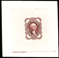 #  70E3 SUPERB, Violet Brown on proof paper, Wonderful condition,  RARE!