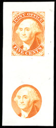 #    9x1E1a SUPERB, Orange, Die on India, Very Fresh and RARE!