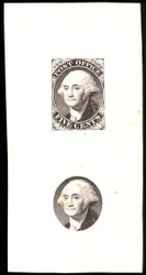 #    9x1E1c SUPERB, Black, Die on Glazed Paper, a few minor toning spots,   SUPER RARE!