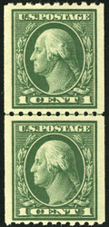 # 441 F/VF OG NH, Line Pair, w/PSE (GRADED 70 (12/17)) CERT, very nice!