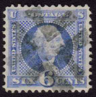 # 115 SUPERB, w/PSE (02/89) CERT, Perfectly centered stamp with light cancel.  This is one of the harder values in the 1869 set to find well centered.  A GEM!