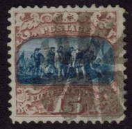 # 119 XF, w/PF (10/81) CERT, a well centered stamp with large margins, bold color and nice fancy cork cancel