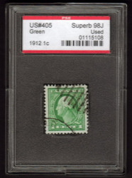 # 405 SUPERB JUMBO, w/PSE (GRADED 98 JUMBO, ENCAPSULATED),  a wonderful stamp, the TOP of the population.  SHOWPIECE!