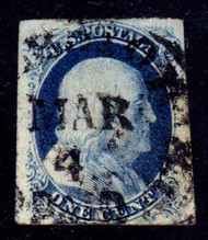 #   9 SUPERB, clear March 4 date stamp, Nice!