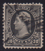 # 228 XF-SUPERB, w/PSE (GRADED 95 (04/14)) CERT, a fabulous stamp with large margins and a face free cancel, CHOICE!  CERT 01281153