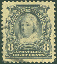 # 306 SUPERB, w/PSE (GRADED 98 (12/14)) CERT,  a fabulous stamp with faint cancel and graded 98!   SUPER GEM!   CERT 01293219