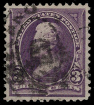 # 268 XF, w/PSE (GRADED 90 (07/17)) CERT, large stamp for this issue,  SUPER NICE!