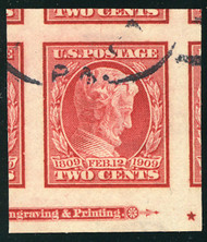 # 368 JUMBO GEM, w/PSE (GRADED 100 (05/14)) CERT,  a super bottom margin imprint stamp,  SUPER SIZED!  TOP OF THE POPULATION!!