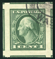 # 408 JUMBO GEM, w/PSE (GRADED 100 JUMBO (05/18)) CERT, a super single, very SCARCE as a used stamp,  TOP OF THE POPULATION!