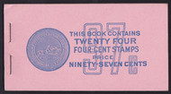#1036a no.BK109 COMPLETE BOOK, 70% partial plate number 26700, post office fresh