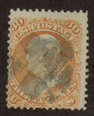 # 100 Fine, used, usual centering,  clear grill, minor paper flaws