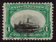 "# 294 VF/XF Bold Color, Dramatic shift ""sinking ship"", faint cancel, used"