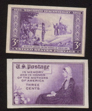 # 754, 755 VF/XF NH Singles, Nice Set! (Stock Photo - You will receive a comparable stamp)