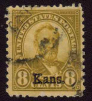 # 666 VF for issue, BIG STAMP!, used