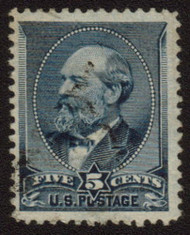 # 216 F/VF, barely canceled, very fresh stamp