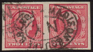 # 368 VF/XF, used pair, nicely centered
