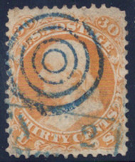 #  71 F/VF,  super nice blue color cancel,  nice for the price