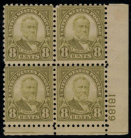 # 589 F/VF OG NH, minor glazing noted for accuracy,  priced right!