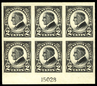 # 611 XF OG NH, post office fresh,  Lovely plate block!