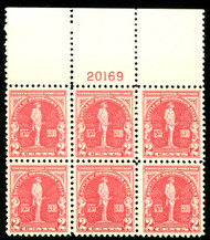 # 688 VF/XF OG NH, LARGE TOP PLATE,  well centered with large top,  SUPER CHOICE!