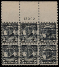 # 610 F/VF used, LARGE TOP, very nice plate,  Super!