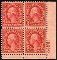 # 583 VF OG Hr, Plate Block, very well centered,  Nice Plate!