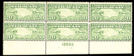 #C  9 F/VF OG NH, bottom plate